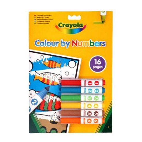 Crayola Colour By Number Mini Markers (6)