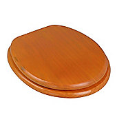 Harbour Housewares Wooden Toilet Seat. Dark Pine Colour.
