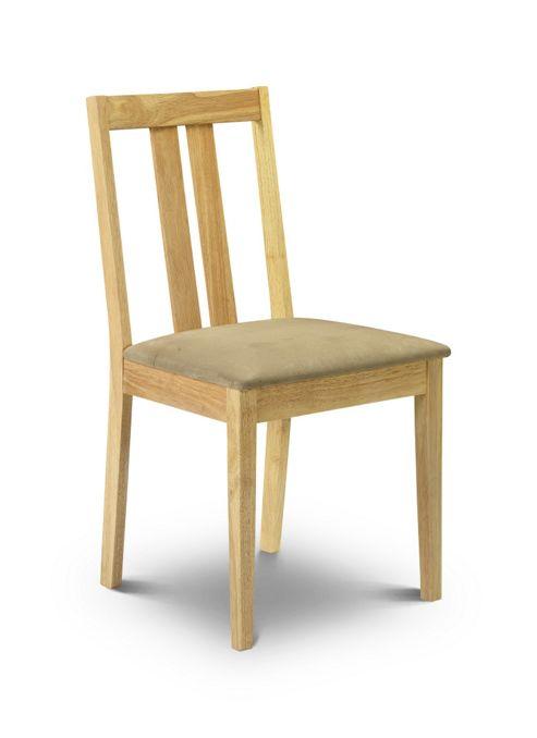 Julian Bowen Rufford Dining Chair in Natural (Set of 2)