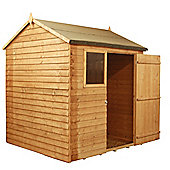 4ft x 6ft Reverse Overlap Apex Shed 4 x 6 Garden Wooden Shed