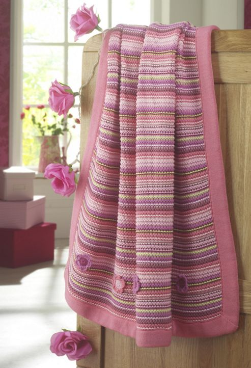 Lollipop Lane Upsy Daisy Knitted Blanket Pram