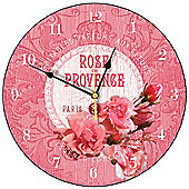 Smith & Taylor Rose De Provence Round Wall Clock in Rose Pink