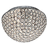 Decorative Crystal Glass Flush Ceiling Light