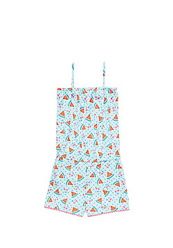 F&F Watermelon Print Playsuit - Blue & Pink