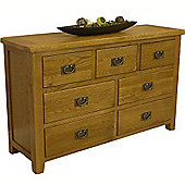 Tucan Rustic Oak 3 Over 4 Chest Of Drawers