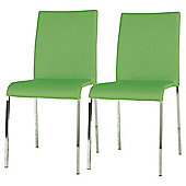 Denna Pair Dining Chairs Green