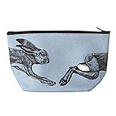 Parlane Grey / Black Cotton 'Hare' Cosmetic Bag - 12 x 19cm