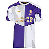 2013-14 Liverpool Warrior Training Shirt (White-Purple) - Kids - White