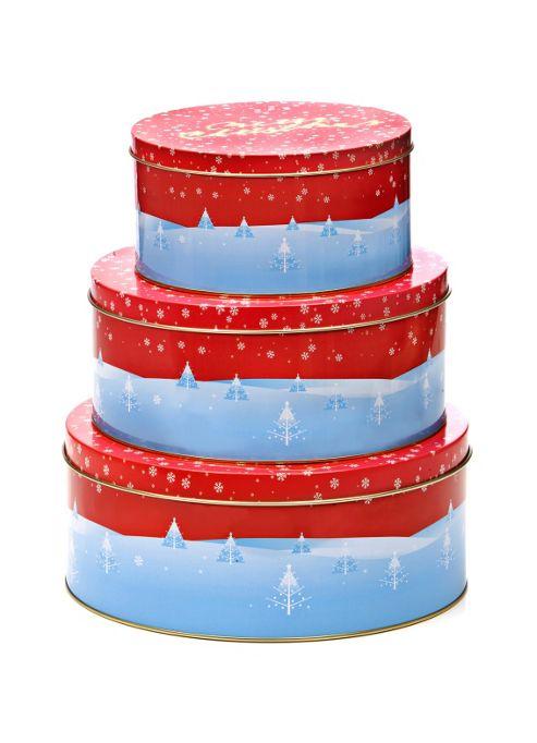 buy eddingtons merry christmas design cake storage tins. Black Bedroom Furniture Sets. Home Design Ideas