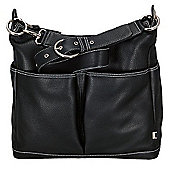 OiOi Hobo Bag with Taupe Lining (Black Leather)