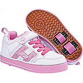 Heelys Bolt Plus White/Pink Heely Shoe - Pink