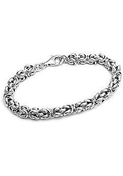"""Solid Sterling Silver 925 Byzantine Bracelet 7"""""""