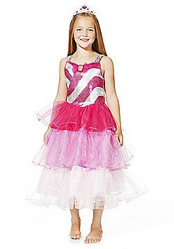 Barbie Princess Dress-Up Costume years 03 - 04 Pink