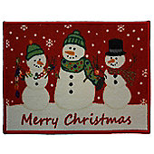 Snowmen, Christmas Themed Door Mat / Rug