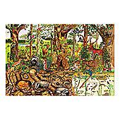 Bigjigs Toys BJ017d Woodlands Floor Puzzle (192 Piece)