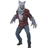 Grey Lycan Ani-Motion Mask Costume Large/Extra Large