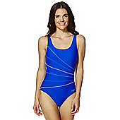 Zoggs Graphic Line Scoop Back Swimsuit - Blue