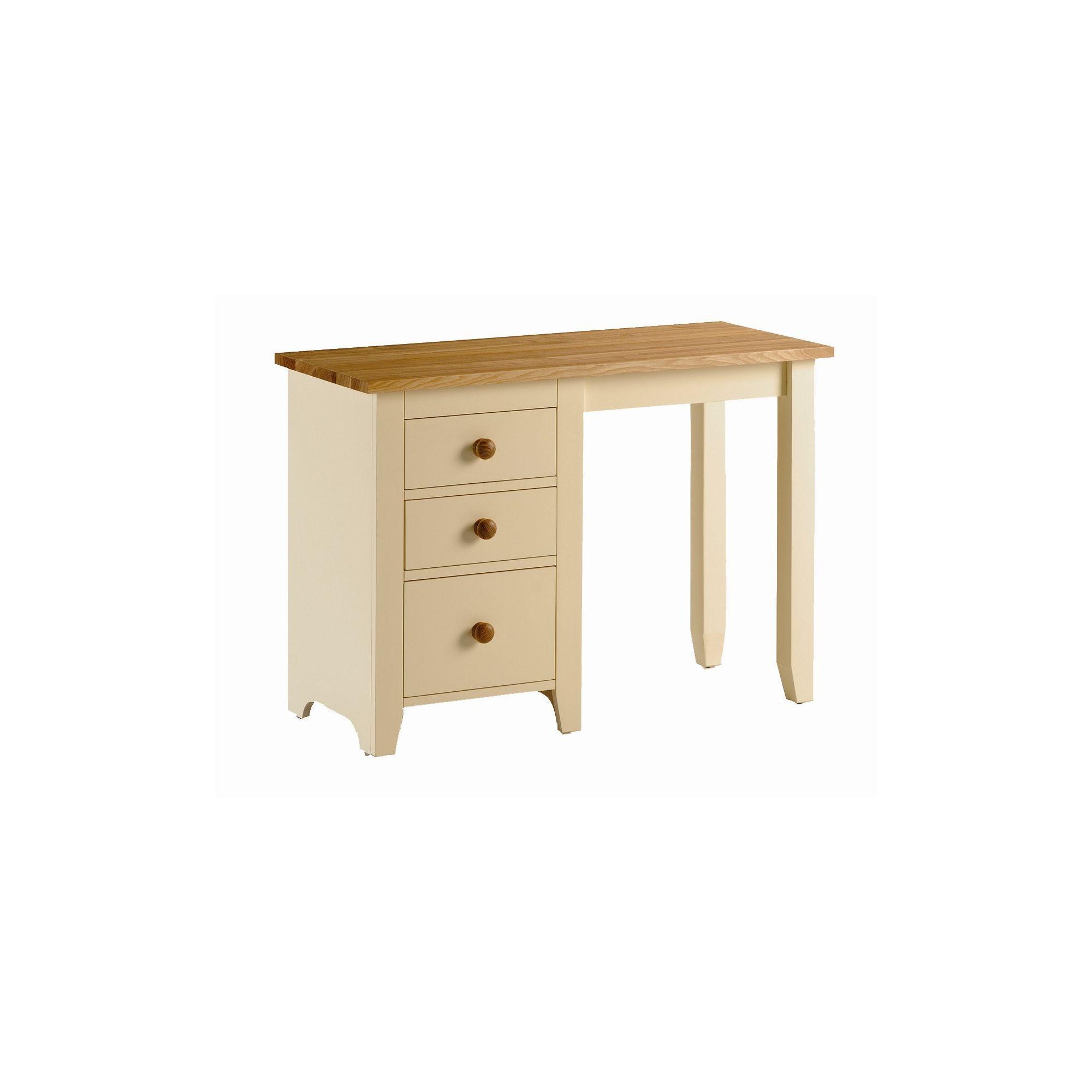 Kelburn Furniture Fanshawe Painted Single Pedestal Desk in Ivory at Tesco Direct