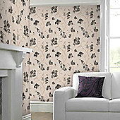 Graham & Brown Enthrall Wallpaper - Charcoal