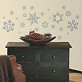 Childrens Wall Stickers - Glitter Snowflakes
