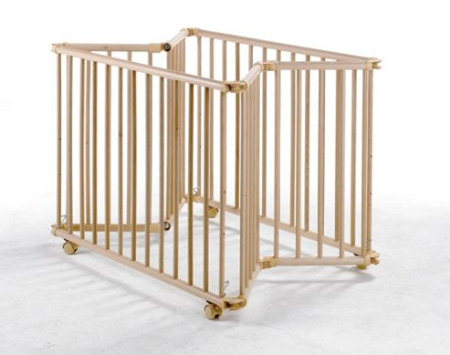 Geuther Geuther Lucy Large Folding Playpen in Natural