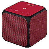 Sony SRSX11R.CEK Mini Bluetooth Speaker Red