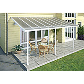 Palram Feria Lean To Carport And Patio Cover 3X10.92 White