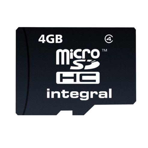 Integral microSDHC 4GB Class 4 Card