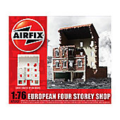 European Four Storey Shop Ruin (A75007) 1:76