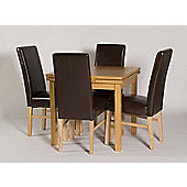 G&P Furniture Somerset 5 Piece Extending Draw-Leaf Dining Set