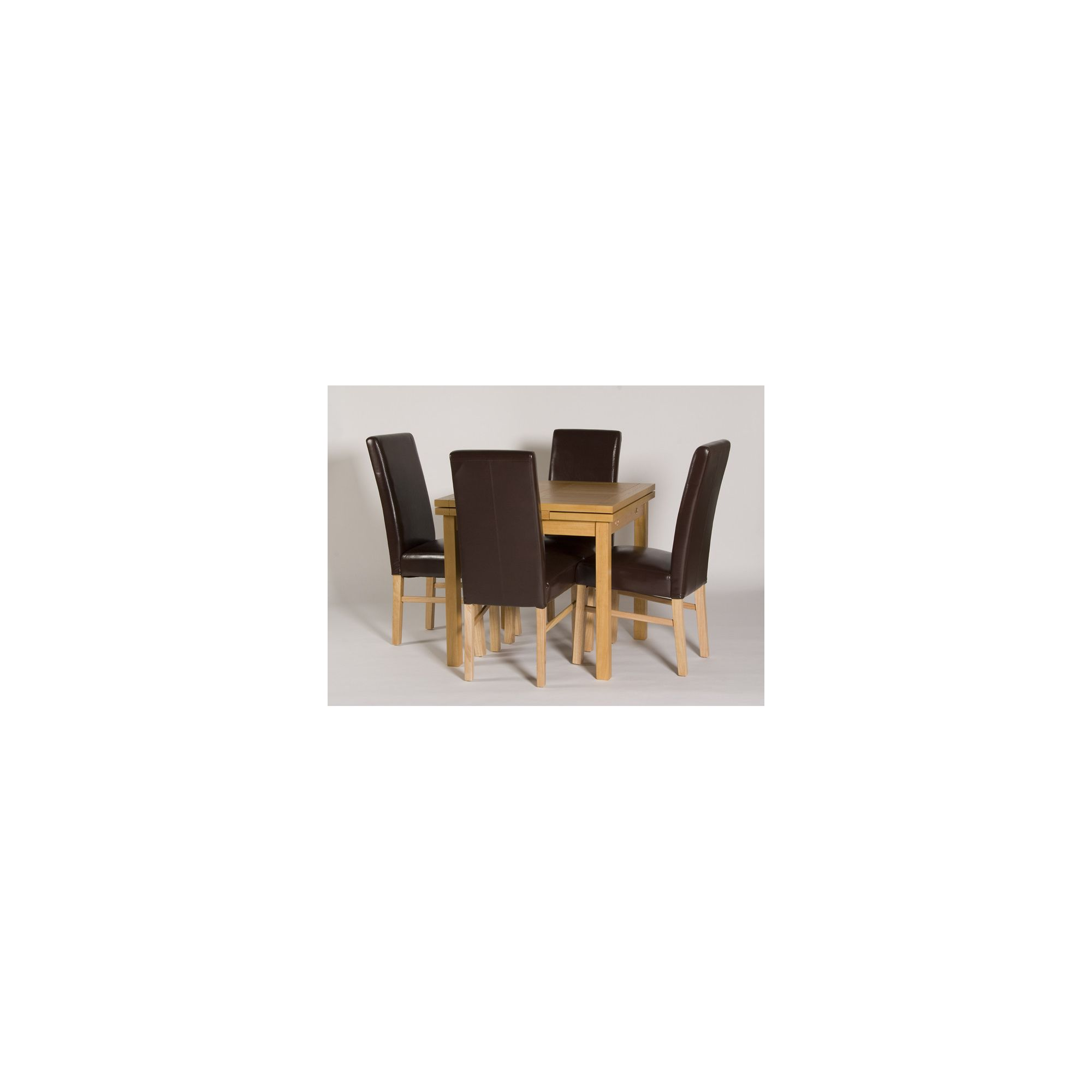 G&P Furniture Somerset 5 Piece Extending Draw-Leaf Dining Set at Tesco Direct