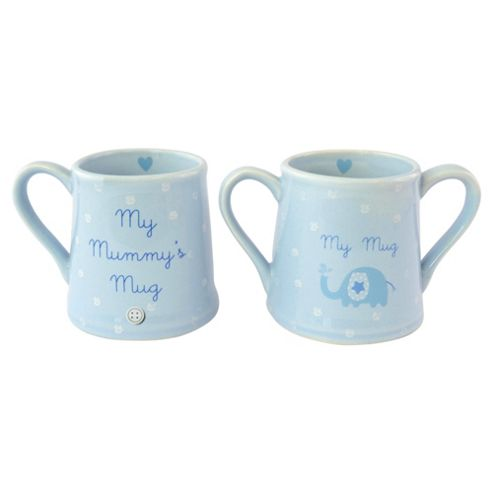 New Baby Boy & Mummy Mug Set