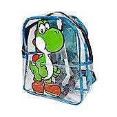 Nintendo Super Mario Bros. Yoshi Transparent Mini Backpack, Blue/clear - Accessories