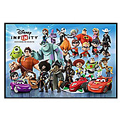 Gloss Black Framed Disney Infinity Character Montage Poster
