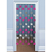 Amscan 21st Birthday Door Danglers Pink/Silver