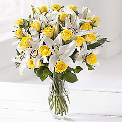 Yellow Rose & Lily Extra Large Bouquet
