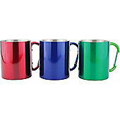 Yellowstone 300ml Camping Mug Carabina Handled - 3 Pack