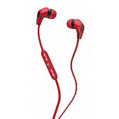 50/50 In-Ear Headphones with Mic Red