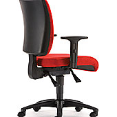 Pledge May'b Mid Back Task Chair with Arms - Black