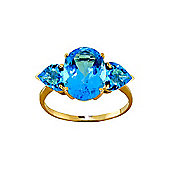 QP Jewellers 4.20ct Blue Topaz Vogue Ring in 14K Gold