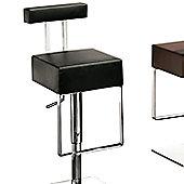 Dan-Form Sam Adjustable Bar Stool with Step - Black