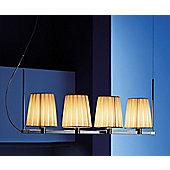 Lucente Nura 4 Light Pendant in Ivory Pong?