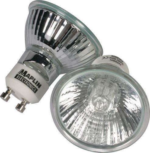 20W GU10 Mains Voltage Halogen Bulb Lamp Light 2 Pack