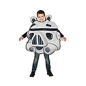 Rubies Fancy Dress - Angry Birds Star Wars - Stormtrooper Costume CHILD ONE SIZE - 4-7 years