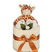 Unisex Giraffe Rattle Baby Nappy Cake Gift (Mini)
