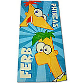 Phineas and Ferb Printed Beach Towel
