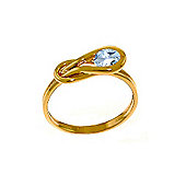 QP Jewellers 0.65ct Aquamarine San Francisco Ring in 14K Rose Gold