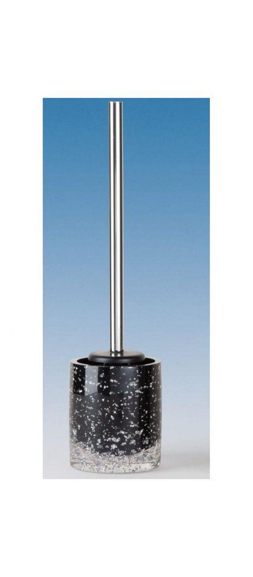 buy sanwood glitter toilet brush set in black and silver. Black Bedroom Furniture Sets. Home Design Ideas