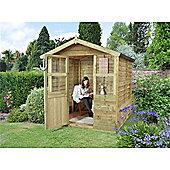 6ft x 6ft Stroud Summerhouse - 6 x 6 Assembled Garden Wooden Summerhouse