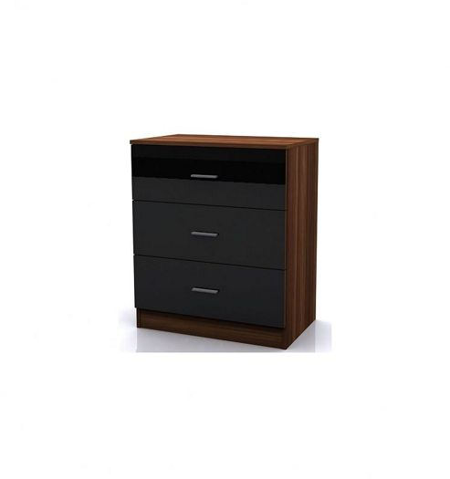 Altruna Alina Three Drawer Chest - Black